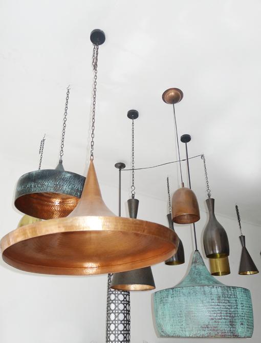 Copper and brass lamps – Bali – by bjørkheim