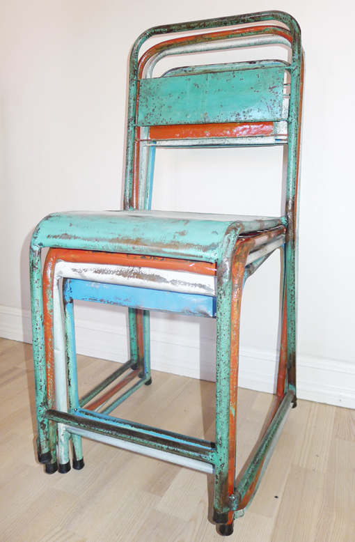 for sale vintage metal chairs from bali by bj rkheim