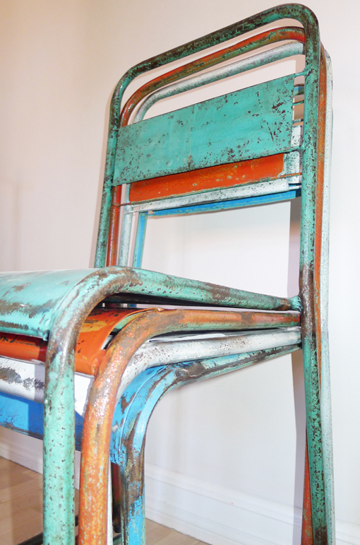 Industrial And Rustic Metal Chairs From Bali For Sale! Old Antique Chairs  Used For Weddings And Other Big Events In Indonesia Back In The Days.