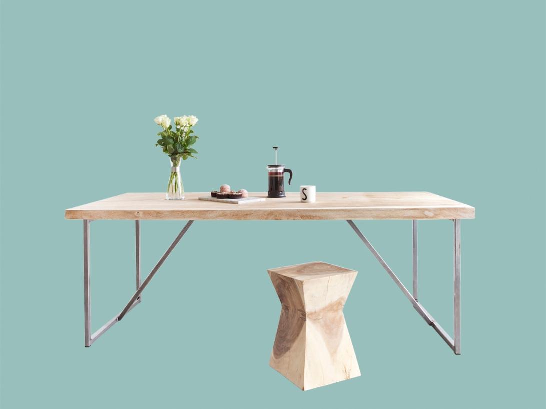 Bali spisebord heltre metall